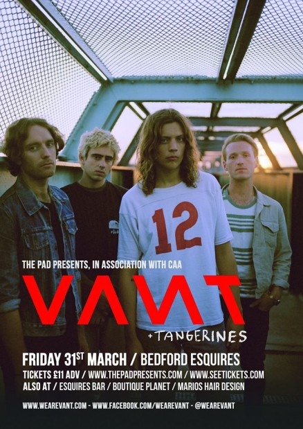 Vant Bedford Esquires Friday 31st March
