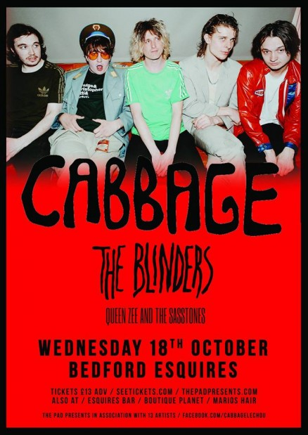 Cabbage play Bedford Esquires Weds 18th October