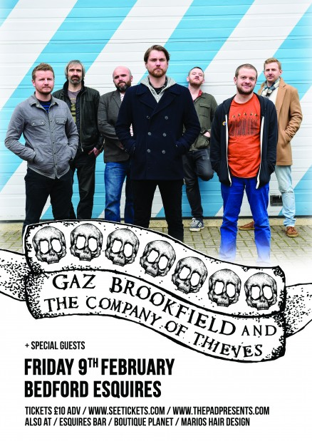 Gaz Brookfield Bedford Esquires Friday 9th Feb