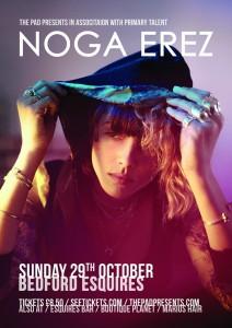 Noga Erez Bedford Esquires Sunday 29th October
