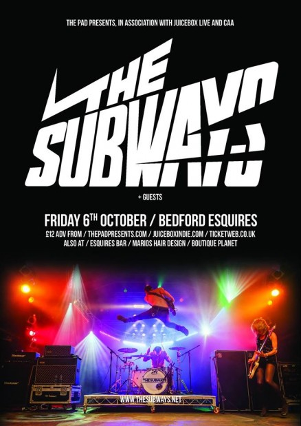 The Subways Bedford Esquires Friday 6th October
