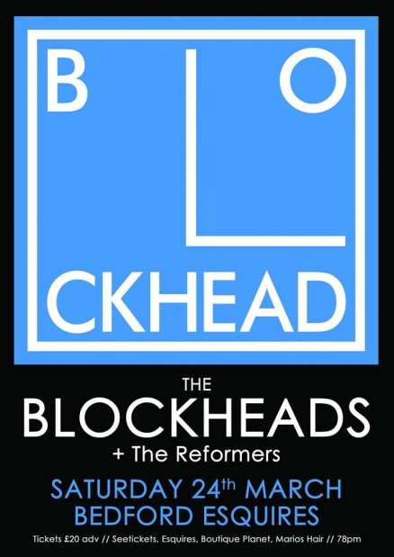 The Blockheads Bedford Esquires Sat 24th March