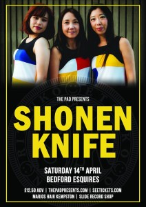 Shonen Knife Bedford Esquires Sat 14th April