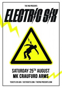 Electric Six Craufurd Arms Saturday 25th August