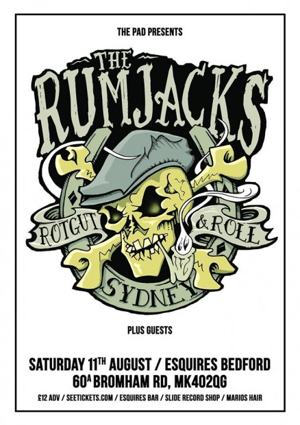 The Rumjacks Bedford Esquires Sat 11th August