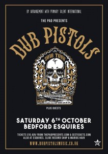 Dub Pistols Bedford Esquires Sat 6th October 2018