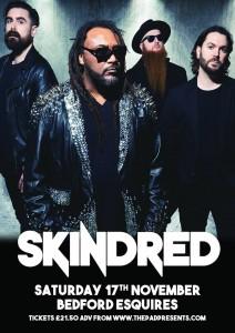 Skindred Bedford Esquires Sat 17th November
