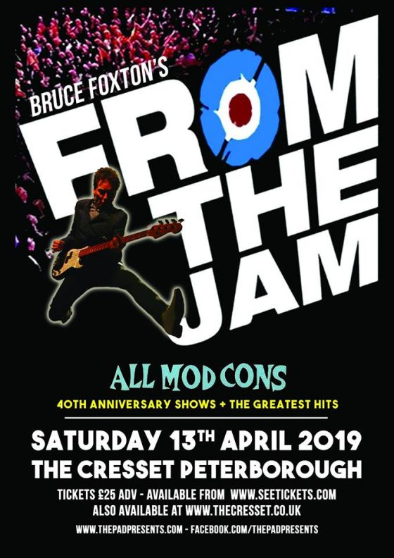 From the Jam ft Bruce Foxton The Cresset Peterborough