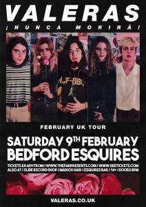 Valeras Sat 9th February Bedford Esquires