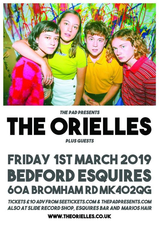 The Orielles Bedford Esquires Friday 1st March