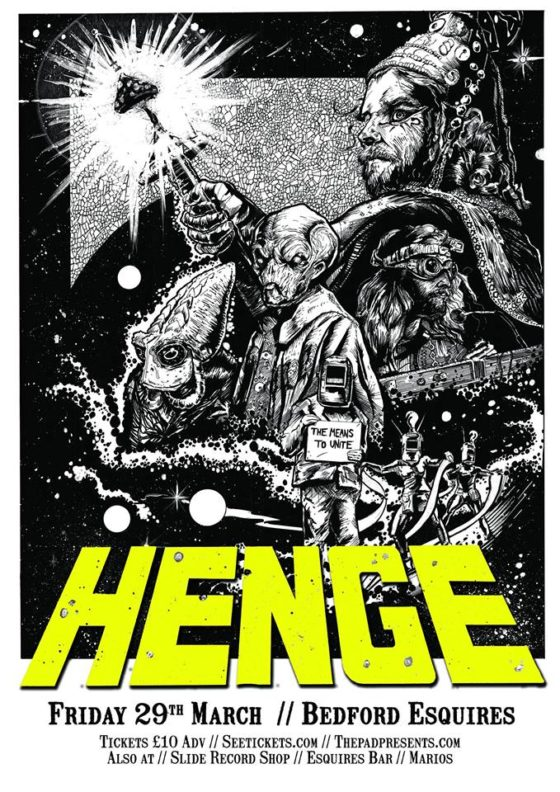 Henge - Live at Bedford Esquires Friday 29th March