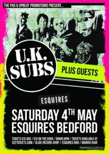 UK Subs Bedford Esquires