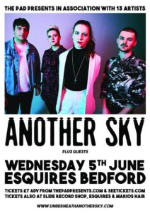 Another Sky Wednesday 5th June Bedford Esquires