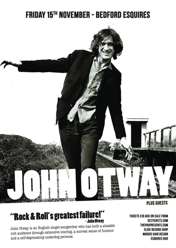 John Otway Friday 15th November Bedford Esquires