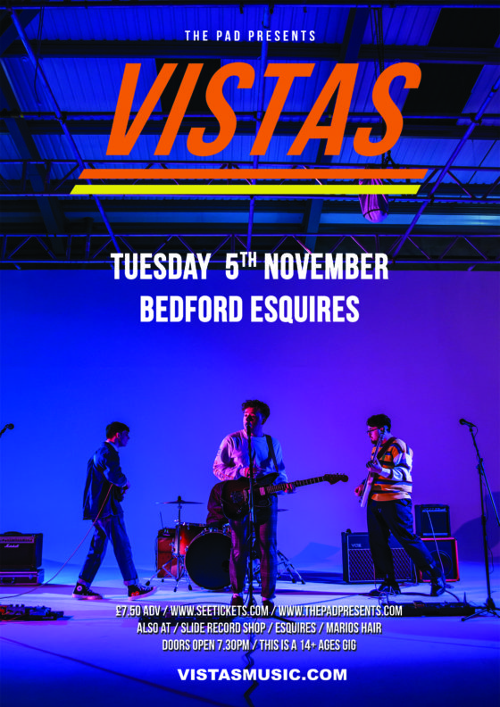 Vistas Tuesday 5th November Bedford Esquires