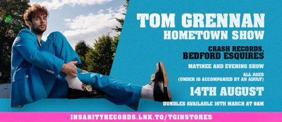 Tom Grennan Sat 14th August