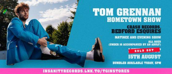 Tom Grennan Sunday 15th August